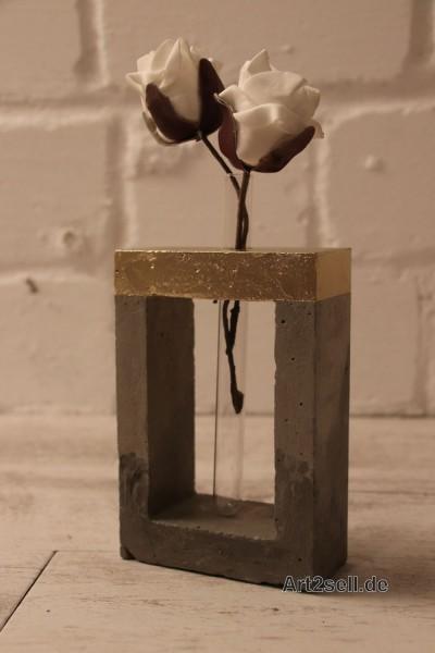 Blumenvase Beton aRT© Gold like Concrete