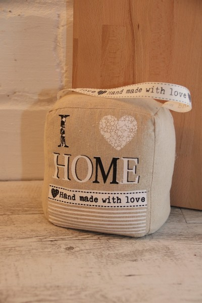 Türstopper Stoff ' I Love Home '