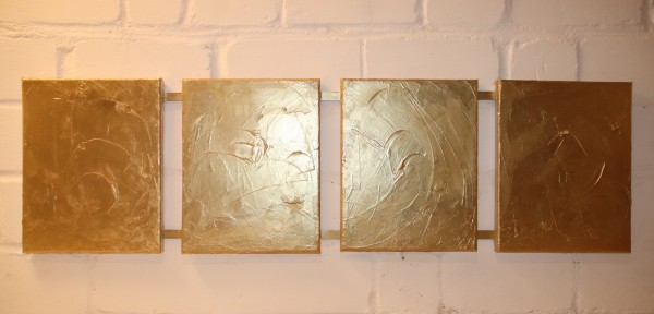 Abstrakte Malerei in Gold